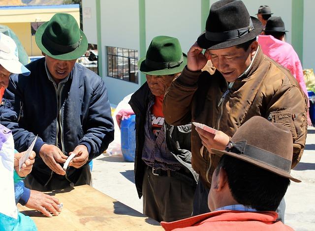Markt von Otavalo Ecuador